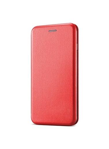 Microsonic Apple iPhone SE 2020 Kılıf Ultra Slim Leather Design Flip Cover Kırmızı